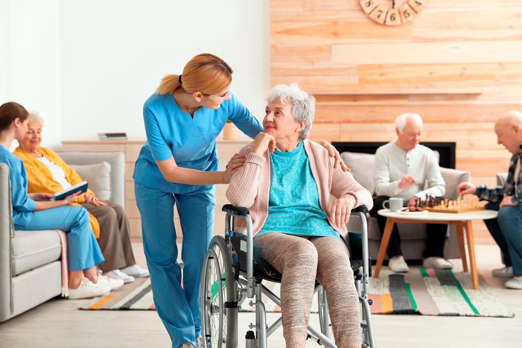 Acompañamiento en residencia u hospital
